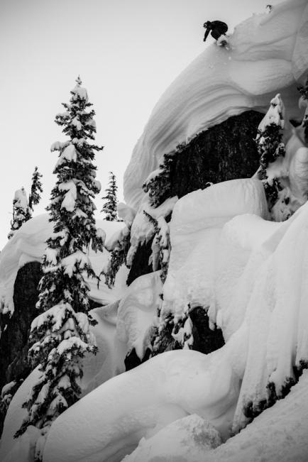 Wiley Tesseo snowboarding in Pemberton B.C.